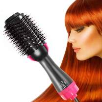 One Step Hair Dryer and Styler Volumizer Hair Straightener Brush Large Hot Air Hair Brush for All Hairstyle(1000W 110V) - Black Pink (Black Pink)