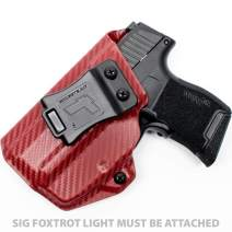 Tulster IWB Profile Holster in Left Hand fits: Sig P365 w/Foxtrot
