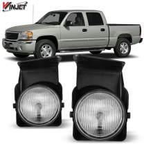 Winjet Compatible with [2003 2004 2005 2006 2007 GMC Sierra] Driving Fog Lights, WJ30-0541-09