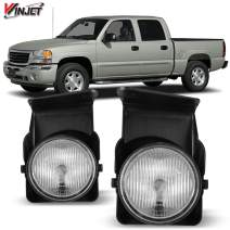 Winjet Compatible with [2003 2004 2005 2006 2007 GMC Sierra] Driving Fog Lights, WJ30-0541-09