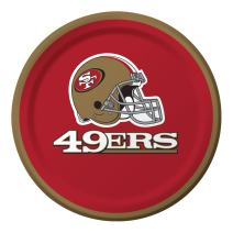 Creative Converting Officially Licensed NFL Dessert Paper Plates, 96-Count, San Francisco 49ers