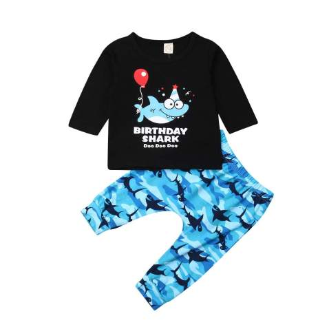 Infant Toddler Baby Boys Camo T-Shirt Tops Pants Outfits Set Sweatsuit