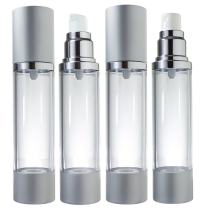 Airless Pump and Spray Bottle Refillable Travel Set - 1.7 fl oz (4 Pack- 2 Each Spray and Pump)