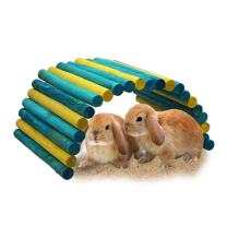 B&P Color Fiddle Sticks Hideout Large Folding Wood Fence Ladder Bridge for Rabbits, Ferrets, Guinea Pigs, Chinchilla and Other Small Animals cage Accessories