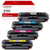 Shidono Compatible Toner Cartridge Replacement for HP 410A 410X Fits with Color Laserjet Pro MFP M477fdw/M377dw/M452dw/M477fdn/M477fnw/M452dn/M452nw Printer,[4-Pack, Black/Cyan/Yellow/Magenta]