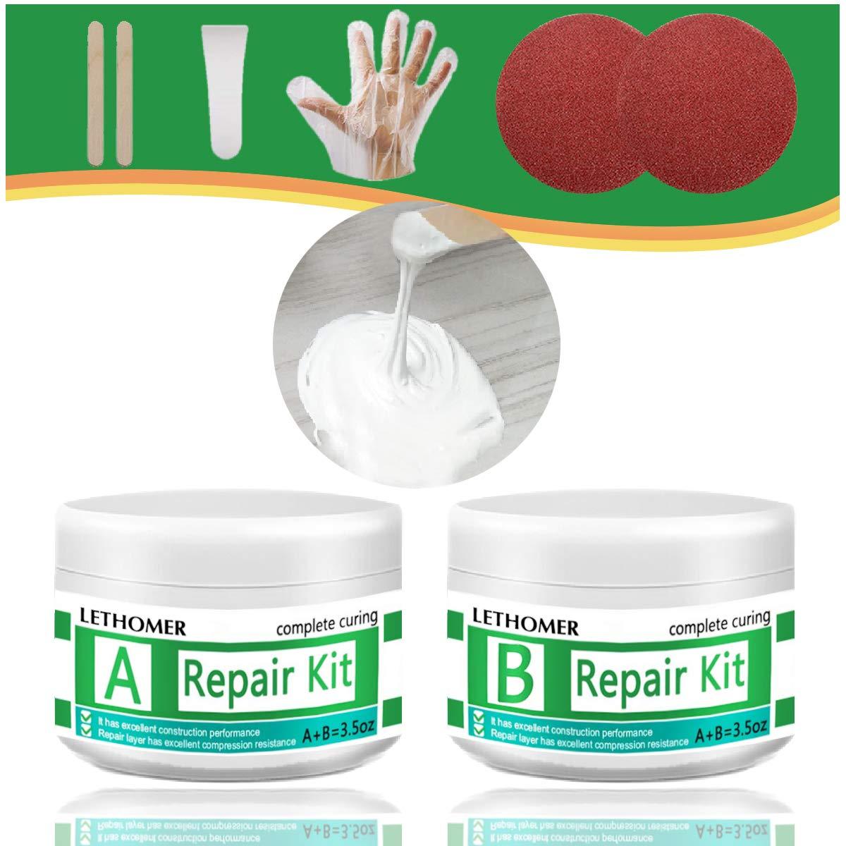Tub, Tile and Shower Repair Kit, Waterproof Porcelain Repair Kit, Tile and Tub Refinishing kit, Non-toxic and Odorless Fiberglass Repair Kit for Tubs, Toilet, Porcelain, Sink Crack (WHITE)