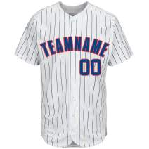 Personalized Custom Baseball Jersey Full Button Shirts Stitched Team Uniforms Name&Numbers Unisex (Adult/Youth)
