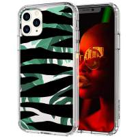 MOSNOVO iPhone 11 Pro Case, Zebra Stripes Pattern Printed Clear Design Transparent Plastic Hard Back Case with TPU Bumper Protective Case Cover for iPhone 11 Pro