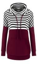 Bulotus Womens Hoodies Pullover, Long Sleeve Cowl Neck Lightweight Sweatshirts