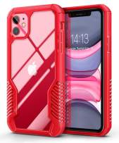 MOBOSI Vanguard Armor Designed for iPhone 11 Case, Rugged Cell Phone Cases, Heavy Duty Military Grade Shockproof Drop Protection Cover for iPhone 11 6.1 Inch 2019 (Red)