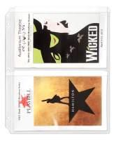 StoreSMART Program & Playbill Binder Page - 2 Pockets per Page - 100-Pack - MC50-PG-100