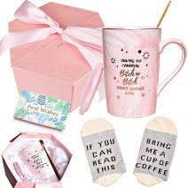 Bosmarlin Birthday Gifts for Sister Female Best Friends, You Are My Favorite Mug, Funny Mug Gifts for BBF,Besties, 13 oz, Pink Ceramic Marble Mug (Pink)