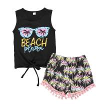 YOUNGER TREE Toddler Boy Girl Summer Clothes Vest Tops Tassels Shorts 2pcs Baby Boy Girl Outfit Suit