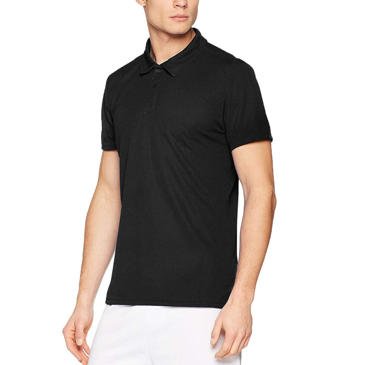 Mens Golf Polo Shirts, Quick Dry Classic Fit Short Sleeve Performance Athletic T-Shirts for Workout