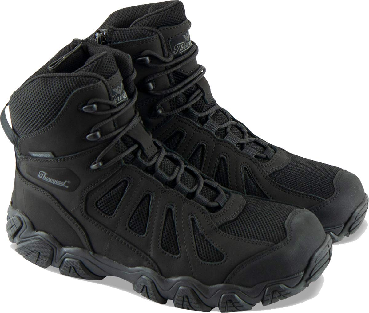 "Thorogood Men's Crosstrex Series - 6"" BBP Waterproof, Side Zip Composite Safety Toe Hiker Boot"