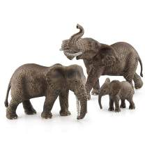 Fantarea Wildlife Animal Figures Figurine Models Elephant Education Cognitive Toy Collection Party Favors Toys for Boys Girls Kid(3 PCS)