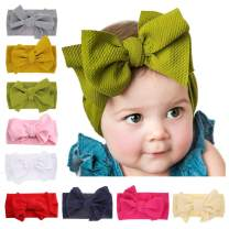 Baby Bows Turban Knotted Head Wraps Hair Bows Headbands Stretchy Headpieces for Newborn Infant Toddlers Girls by JIAHANG