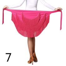 Women Ballroom Latin Salsa Tango Tassel Dance Skirt Skate Wrap Scarf Dancewear