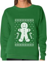 TeeStars - Gingerbread Man Ugly Christmas Cookie Sweater Funny Women Sweatshirt
