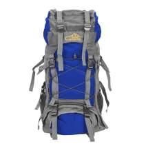 Teeker 60L Waterproof Hiking Backpack,Ultra Lightweight Packable Climbing Fishing Traveling Backpack Hiking Daypack,Handy Foldable Camping Trekking Outdoor Rucksack Bag (Blue)
