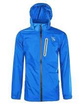 ZITY Mens Rain Jacket Waterproof Breathable Raincoat Hoodie Lightweight Windbreaker for Hiking Runing Cycling