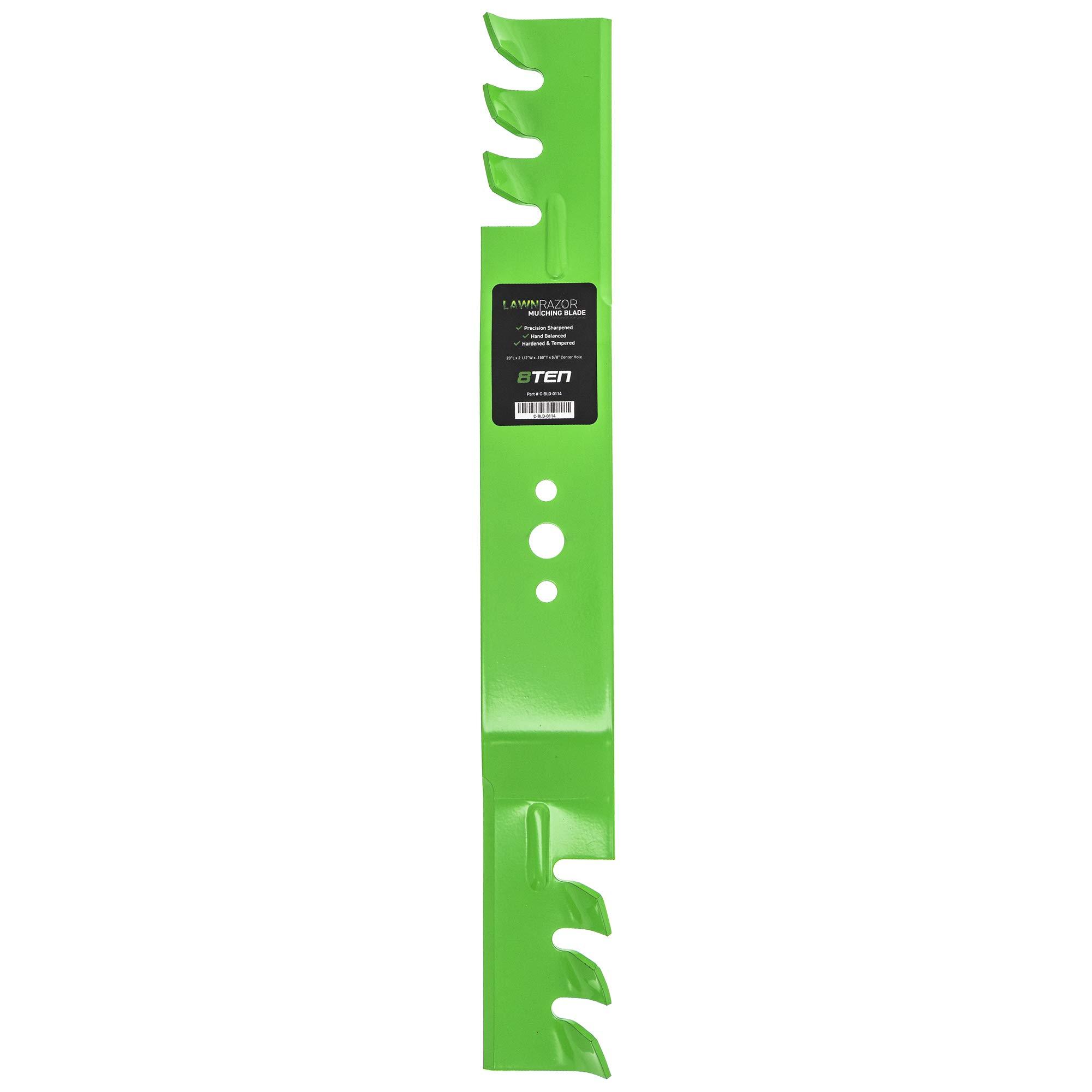8TEN LawnRAZOR Mulching Blade 20 inch Deck for AYP Craftsman Husqvarna Poulan 850972 145106 532850972 532145106