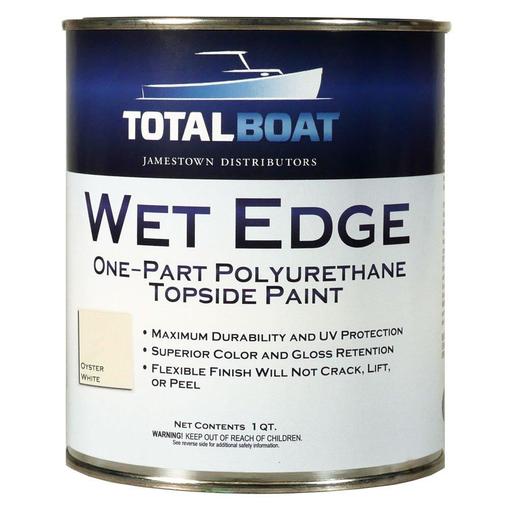 TotalBoat Wet Edge Topside Paint (Oyster White, Quart)