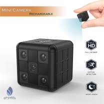 Arsvita Mini Camera, Hidden Spy Camera for Home and Office Security, Night Vision, Full HD Video, Motion Detection, No WiFi Function