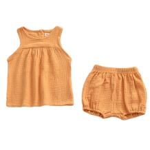 LOOLY Baby Outfits Unisex Girls Boys Cotton Linen Blend Tank Tops and Bloomers