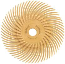 """Dedeco Sunburst - 3"""" TC Radial Bristle Discs - 3/8"""" Arbor - Industrial Thermoplastic Rotary Cleaning and Polishing Tool, Extra-Fine 6 Micron (12 Pack)"""