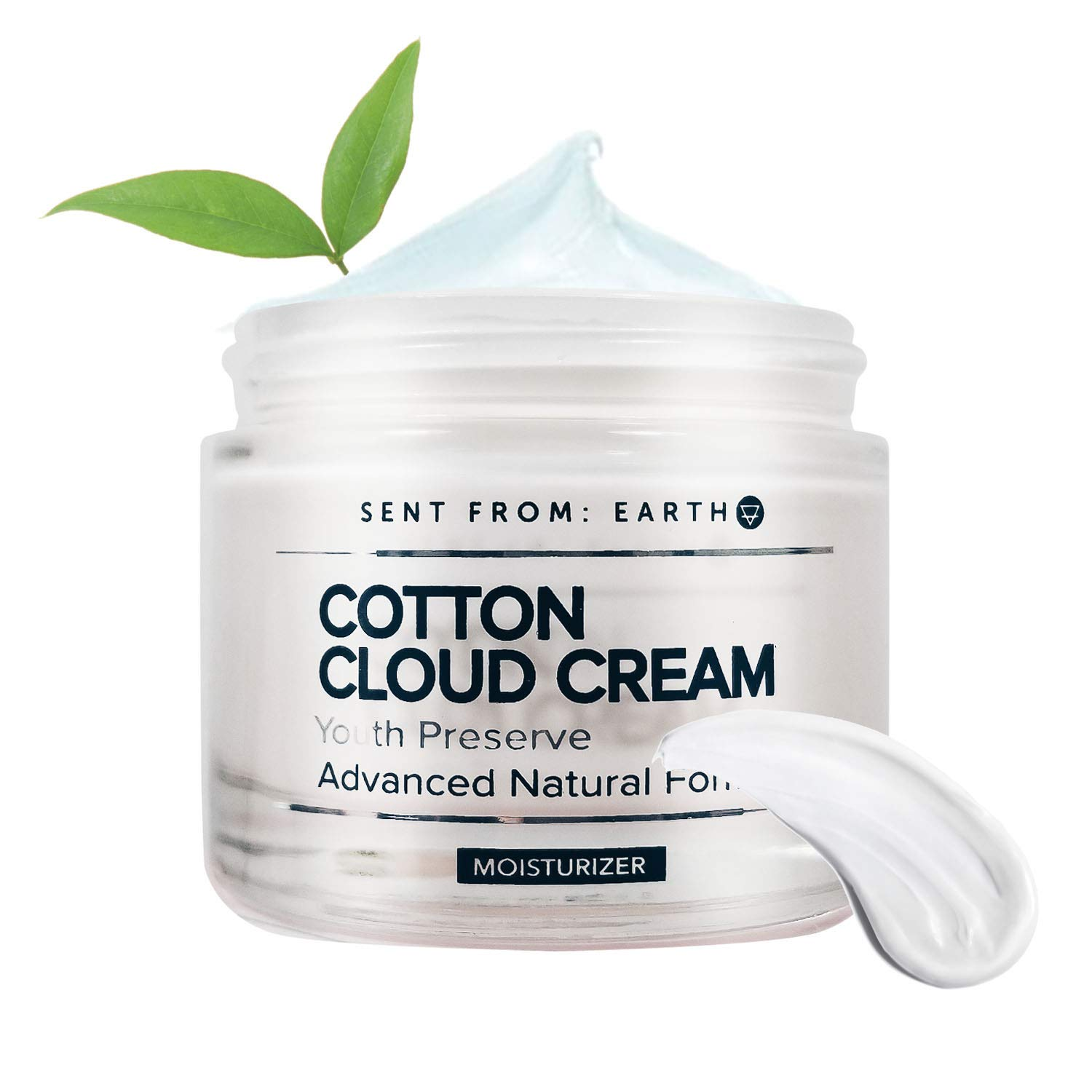 [Sent From Earth] COTTON CLOUD CREAM Youth Preserve Advanced Natural Formula (Organic Ingredients Formulated for Sensitive Skin & All Types of Skins)