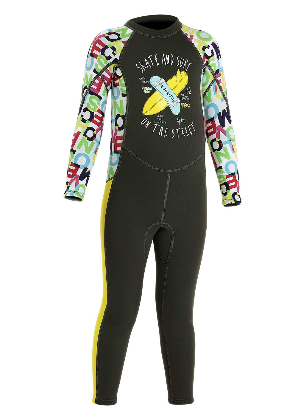 Happy Cherry Kids Wetsuit 2.5mm Neoprene Full Body Thermal Swimsuit