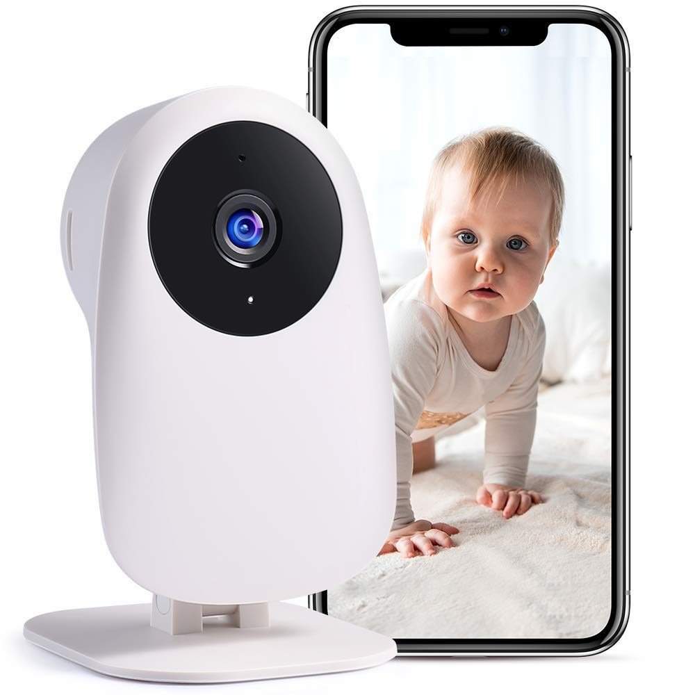 Nooie Baby Monitor with Camera and Audio 1080P Night Vision Motion andSoundDetection 2.4G WiFi Home Security Camera for Baby Nanny and Elderly Monitoring,WorkswithAlexa