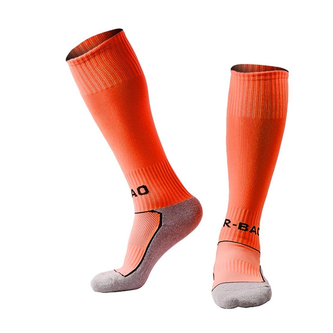 Welltree Boys & Girls Knee High Cotton Soccer Socks/Kids Football Sport Long Socks (Kid/Youth)