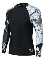 HUGE SPORTS Wildling Series UV Protection Quick Dry Compression Rash Guard