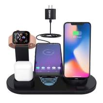 4in1 Wireless Charging Station for Apple Product,iWatch Series 5/4/3/2/1,Airpods Pro/2/1,COSOOS Wireless Charging Dock for iPhone 11 Pro Max/Xs/Xr/X/8/8 Plus/7/6s/5s/5c/SE(No Watch Charger)