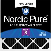 Nordic Pure 16x16x1 Pure Carbon Pleated Odor Reduction AC Furnace Air Filters 6 Pack, 16x16x1PCP-6, 6 Piece