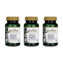 Swanson Full Spectrum Avena Sativa (Green Oat Grass) 400 mg 60 Caps 3 Pack
