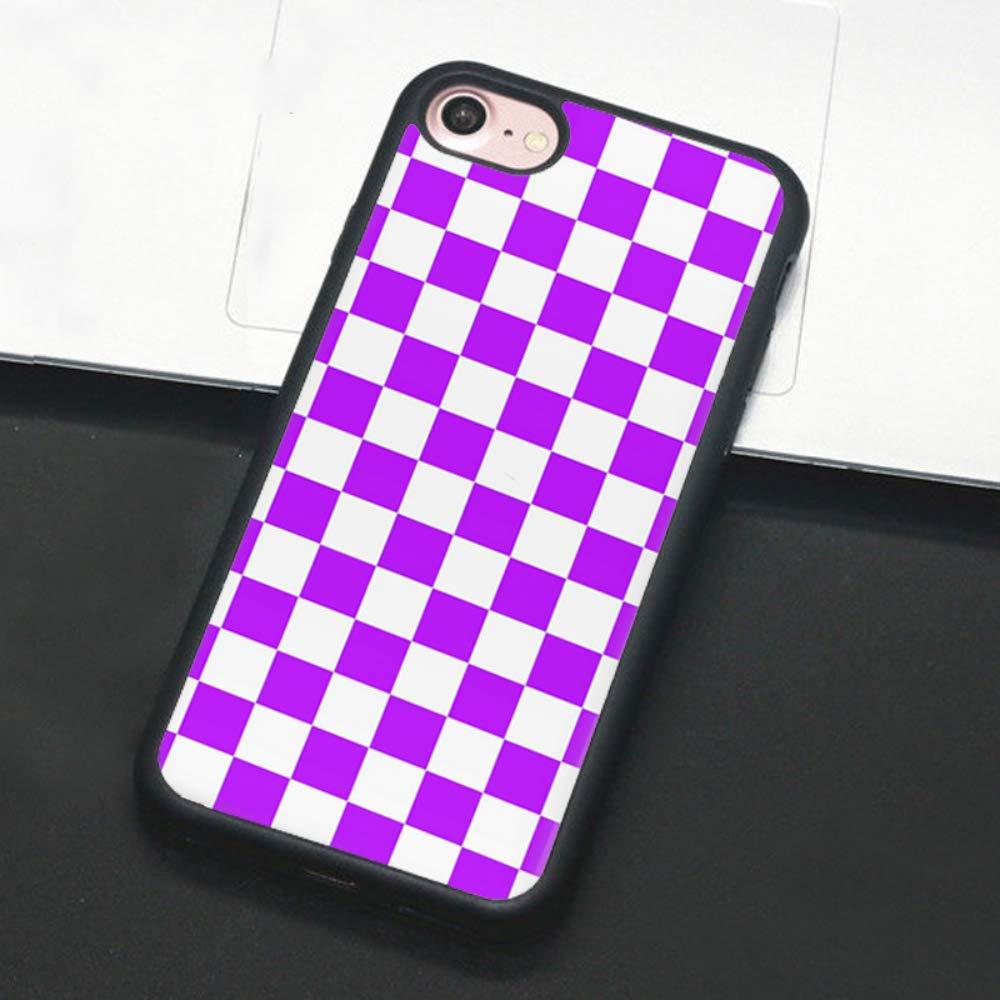 Checkerboard Phone Case for iPhone 11 Pro Max XS Max XR X 8 Plus 7 Plus 8 7 6 6s 5s 5 se Hard Cover Grid Lattice Plaid Tartan Damier House Checkerboard Chessboard Checker Flag (iPhone 7/8 Plus,6)