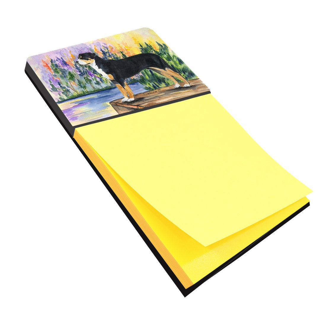 Caroline's Treasures SS8160SN Greater Swiss Mountain Dog Refiillable Sticky Note Holder or Postit Note Dispenser, Large, Multicolor