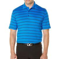 Callaway Men's Opti-Vent Short Sleeve Striped Polo