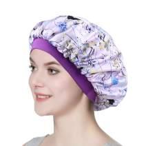 Chemo Cap Silk Nightcap for Women Wide Band Satin Bonnet for Hair Beauty