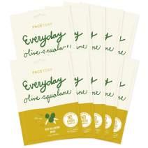 Everyday Olive Squalane Skin Balancing Mask With No Harsh Chemicals - Balancing, Rejuvenating, and Moisturizing (Pack of 10)