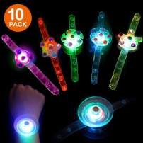 isightguard Light Up Bracelets Birthday Party Favors for Kids, 10 Pcs Glow in The Dark Fidget Toys Boys Girls for Parties,Christmas and Holiday