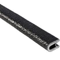 "Trim-Lok Edge Trim – Fits 5/32"" Edge, 9/16"" Leg Length, 25' Length, Black, Pebble Texture – Flexible PVC Edge Protector for Sharp/Rough Surfaces, Easy to Install, 150B2X5/32-25"