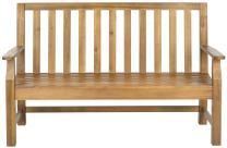 Safavieh Patio Collection Edwin Adirondack Acacia Wood Bench, Natural