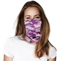Face Covering Bandanas Headband for Women Neck Gaiter Balaclavas Headwear for Dust Sun Wind, Magic Scarf