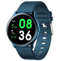 Pard Kids Smart Watch, Ultra Thin Big Screen Fitness Tracker, Heart Rate Blood Pressure Spo2 Monitor for Android iOS, Blue
