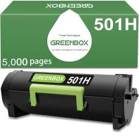GREENBOX Compatible Toner Cartridge Replacement for Lexmark 501H 50F1H00 for Lexmark MS310dn MS312dn MS315dn MS410dn MS415dn MS510dn MS610dn Printer (5,000 Pages High Yield, Black, 1-Pack)