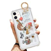 iPhone 11 6.1 Inch 2019 Clear Anti-Yellow Slim Phone Case Gasbag Full Protective Cover Sloth Bear Quotes Balloon Shell with Wrist Strap for iPhone 11